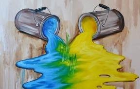 Будущее Украины -развитие 90*90 см масло  (Проданa)