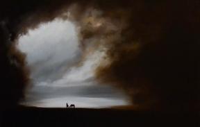 Two horses , oil on canvas 50х60 cm (Продана)