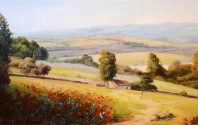 Summer poppies 50х80 cm oil on canvas (Sold)