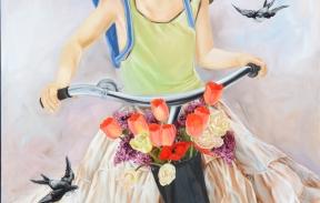 Flower girl 100х140 сm oil on canvas (Sold)
