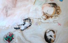 Nap time 90х90 cm oil on canvas