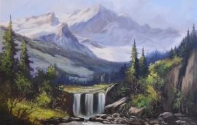 Горный пейзаж  40х50 см холст, масло(Продана)
