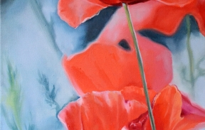 Poppies The smiles of summer 25х50 сm oil on canvas (Sold)