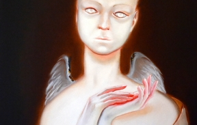 Забота для ангела 50х70 см холст масло