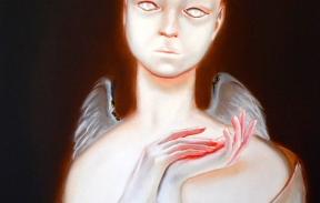 Care for angel 50х70 cm oil on canvas